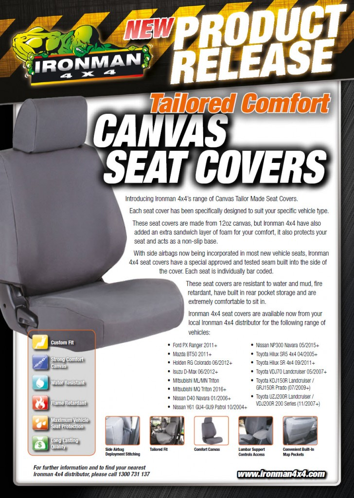 Ironman Tailor Made Canvas Seat Covers Nwm Neil